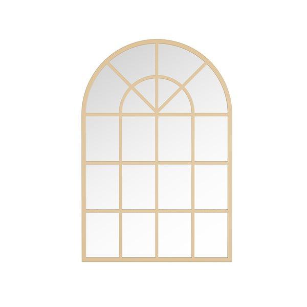 Miroir décoratif en forme d'arche Mesilla par A&E Bath and Shower, 28po L x26po l, doré