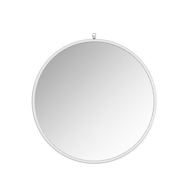 Miroir Haylo circulaire de 36po pour salle de bains par A&E Bath and Shower, argenté