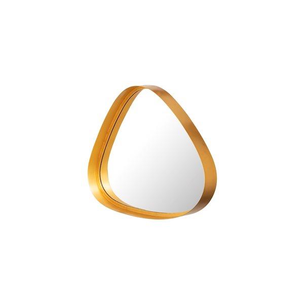 Miroir décoratif triangulaire avec cadre Tetlin par A&E Bath and Shower, 17po L x 22po l, doré