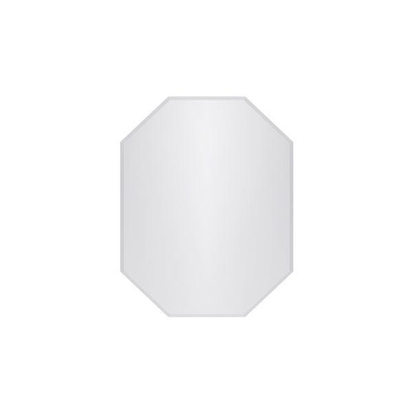Miroir Kirtland octogonale sans cadre de 22po pour salle de bains par A&E Bath and Shower