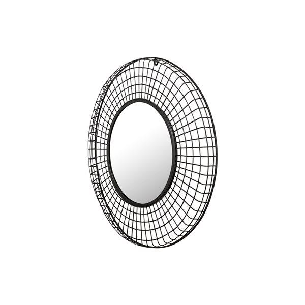 Miroir décoratif circulaire avec cadre Lake par A&E Bath and Shower, 31,5po L x 31,5po l, noir