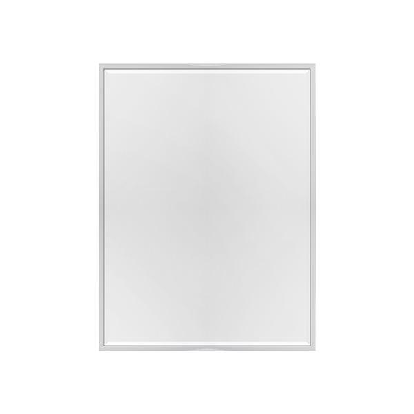 Miroir Mexia rectangulaire de 35,4po pour salle de bains par A&E Bath and Shower, argenté
