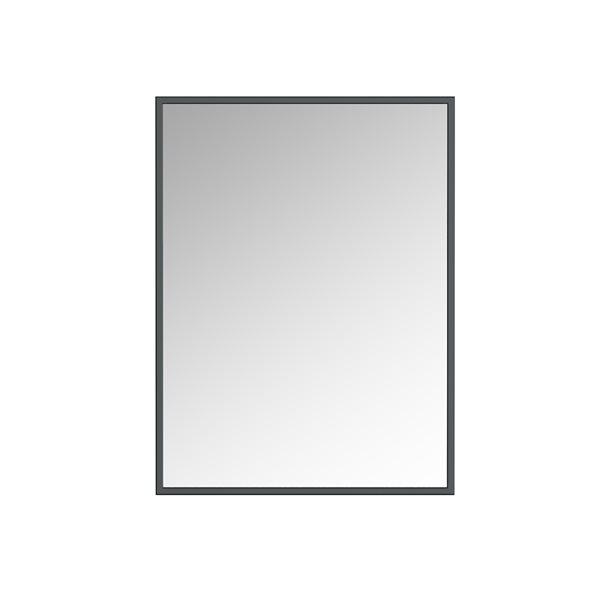 Miroir Prime rectangulaire de 24po pour salle de bains par A&E Bath and Shower, noir