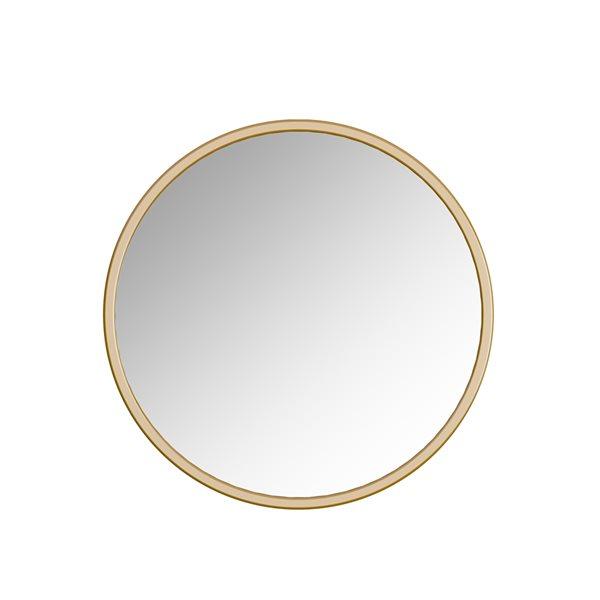 Miroir Halcyon circulaire de 32po pour salle de bains par A&E Bath and Shower, doré