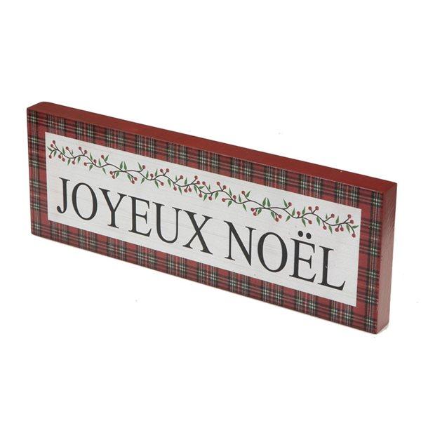 Décoration de Noël IH Casa Decor blanc à carreaux en français