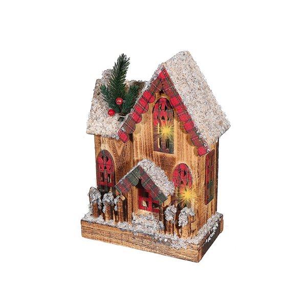 Décoration de Noël IH Casa Decor maison avec clôture