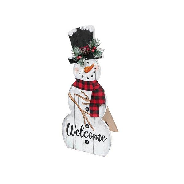Décoration de Noël IH Casa Decor de 17po h. avec bonhomme de neige