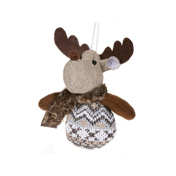 Décoration de Noël IH Casa Decor renne brun, ensemble de 6