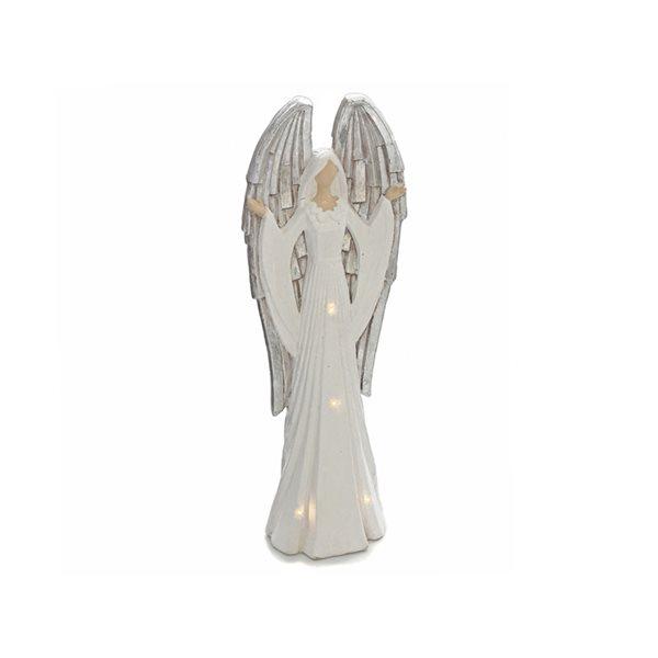 Décoration de Noël IH Casa Decor ange blanc avec lumière DEL