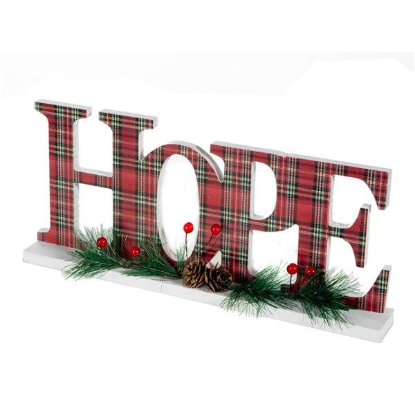 Décoration de Noël IH Casa Decor Hope rouge à carreaux