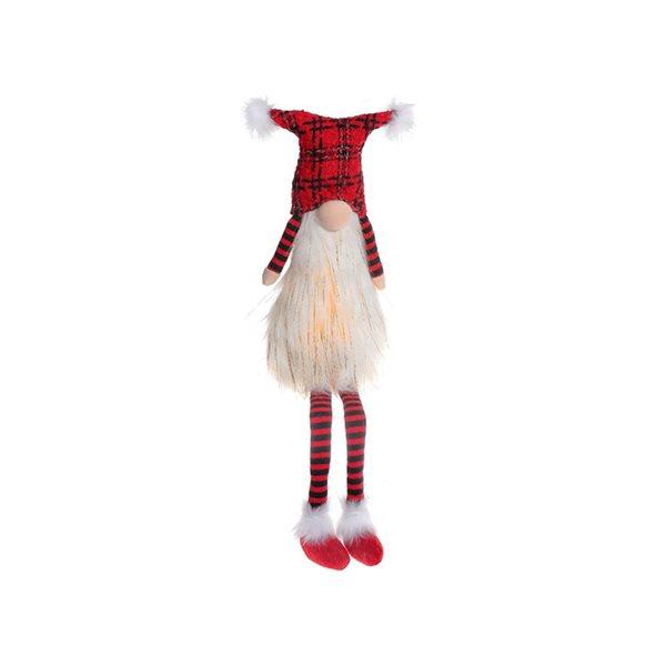 Décoration de Noël IH Casa Decor gnome blanc et rouge