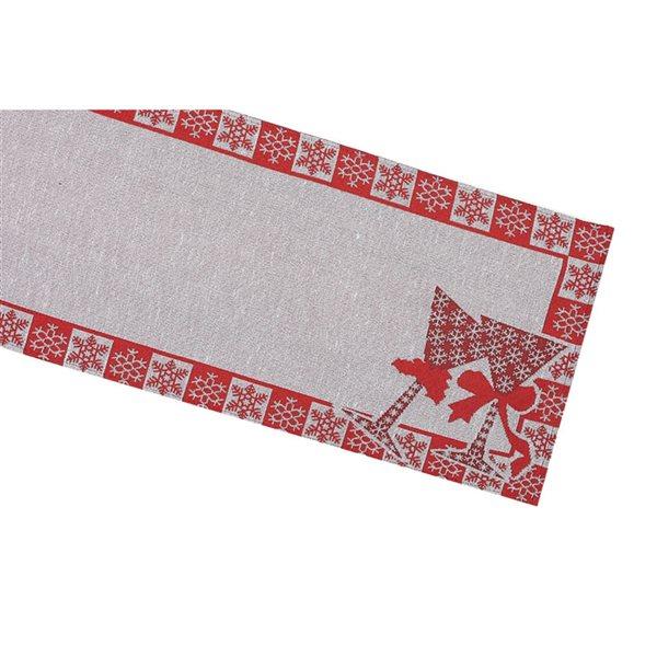 Tapis de table en tissu de tapisserie ajusté par IH Casa Decor, bordure de flocons de neige