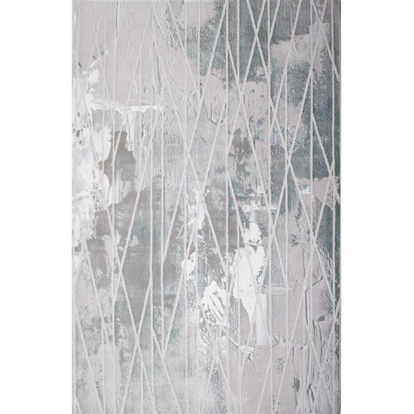 Tapis Oasis par Rug Branch rectangulaire de 8pi x 11pi, motif abstrait bleu